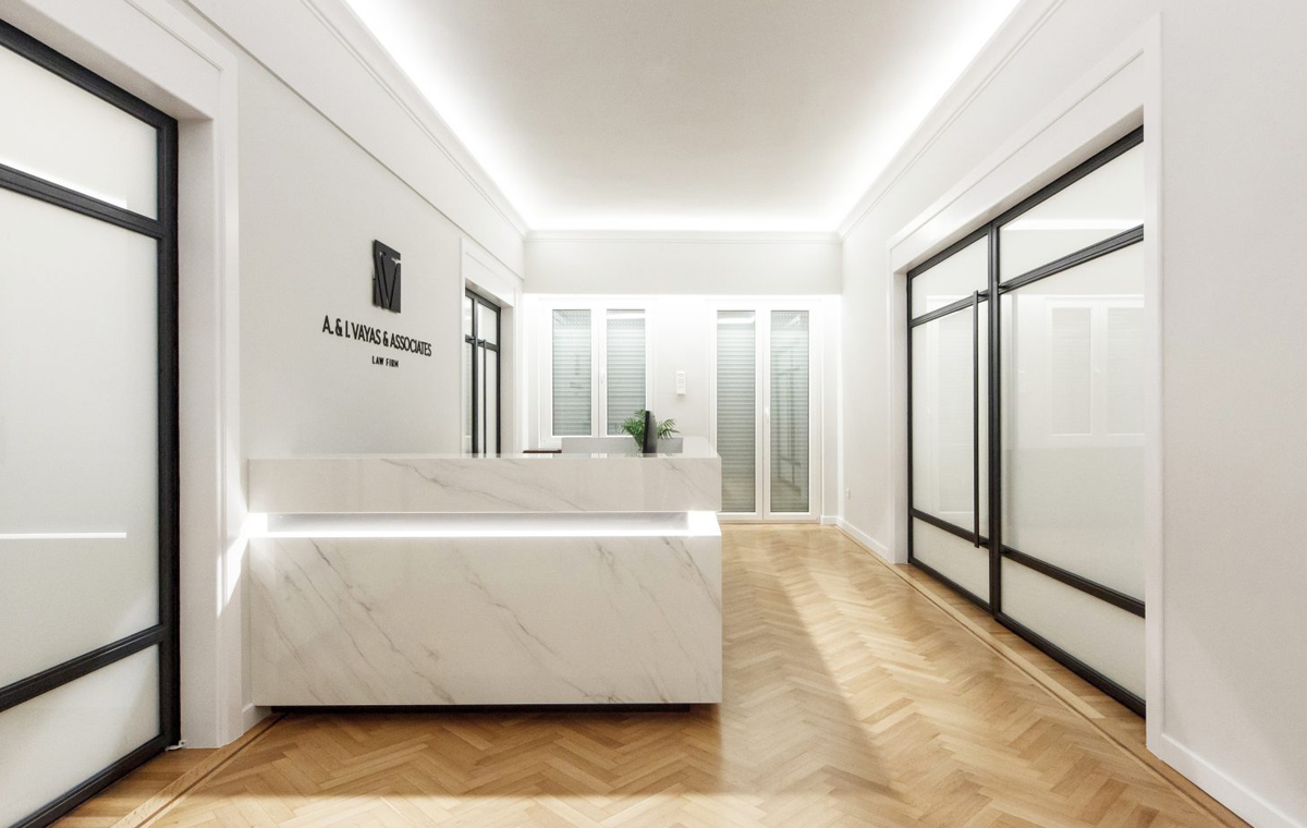 law office renovation parquet custommade doors kordas architects