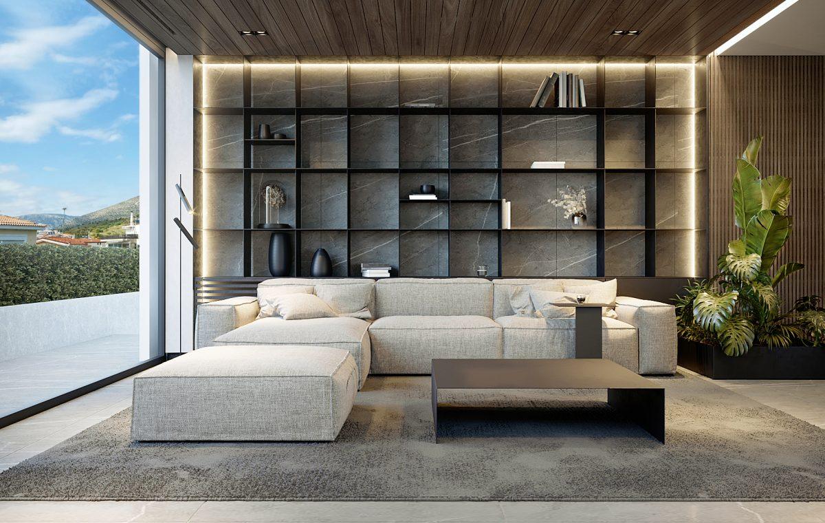 loft style renovation apartment Glyfada Greece