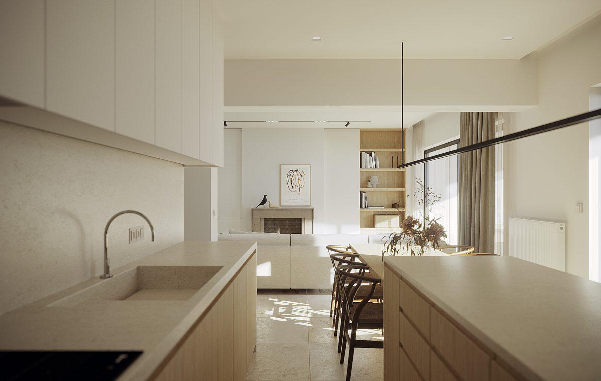 2 διαμέρισμα σχεδιασμός kitchen modern design wood luminous