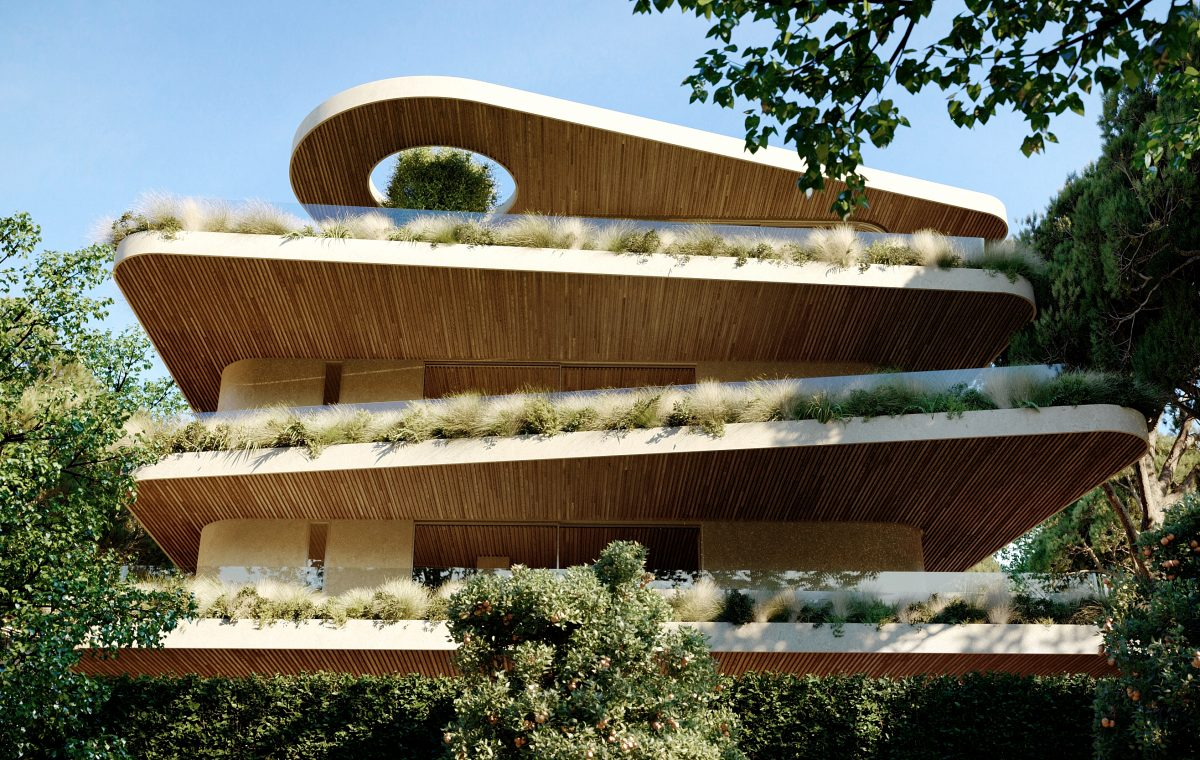 residential building Kifisia Contemporary green apartments Κόρδας έργο